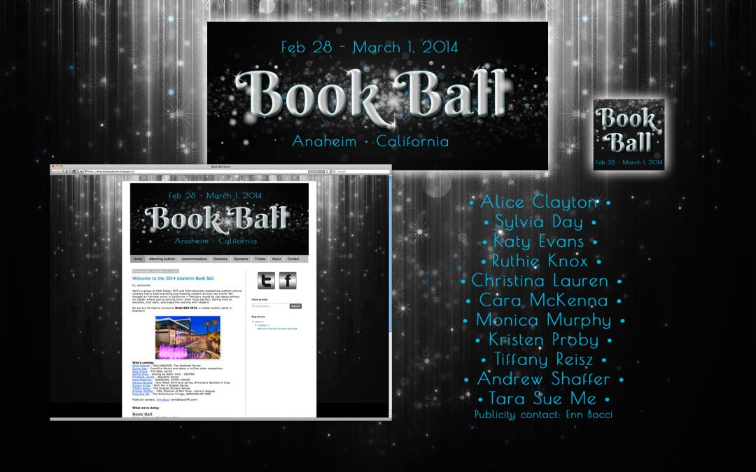 Book Ball 2014 – Web design, social media banners & lanyards